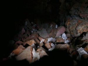 'Schatkamer' dieper in de lavatunnel.